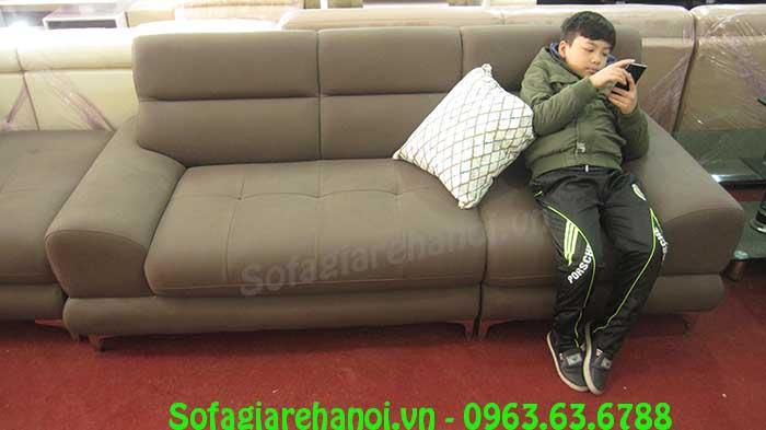Hình ảnh mẫu ghế sofa văng da đẹp là một sản phẩm mới tại Kho nội thất AmiA