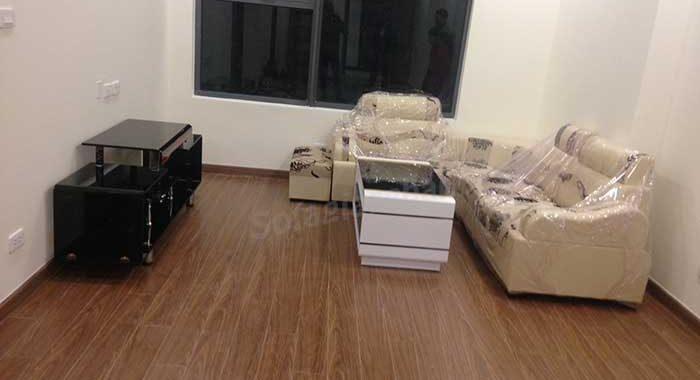 Hình ảnh bộ ghế sofa góc giá rẻ với chất liệu da pha nỉ đẹp hiện đại