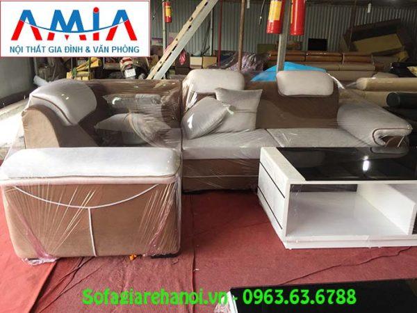 Hình ảnh mẫu ghế sofa góc nỉ đẹp hiện đại và sang trọng