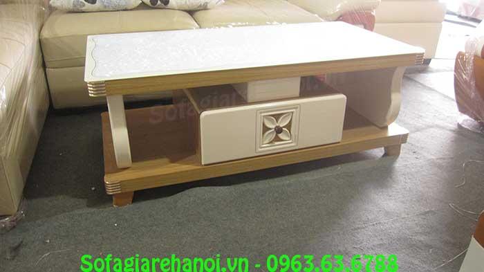 Hình ảnhbộ bàn trà sofa gỗ kính cường lực đẹp cho căn phòng khách đẹp