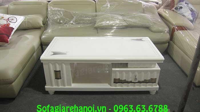 Hình ảnh mẫu bàn trà sofa kính cường lực màu trắng đẹp hiện đại