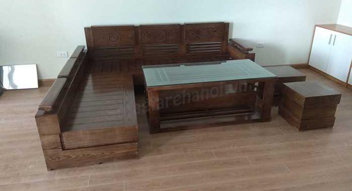 Hình ảnh bộ bàn ghế sofa gỗ phòng khách đẹp được cung cấp bởi Nội thất AmiA