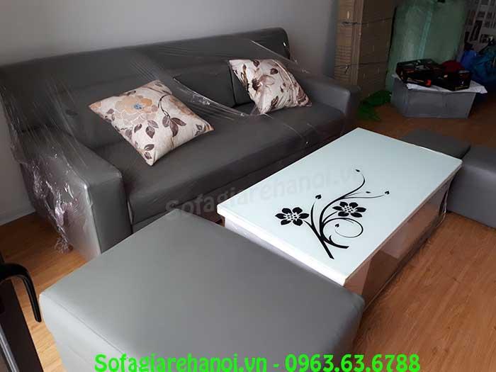 Hình ảnh mẫu ghế sofa văng da đẹp mang phong cách thiết kế hiện đại và sang trọng