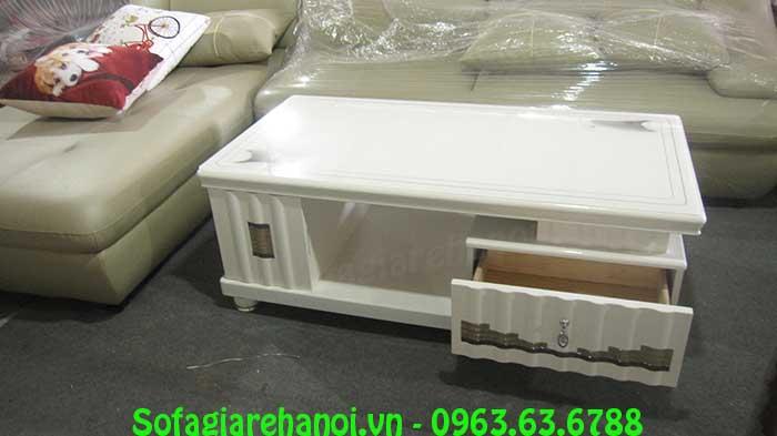 Hình ảnh bàn trà kính cường lực AmiA BTR160 cho bộ bàn ghế phòng khách gia đình