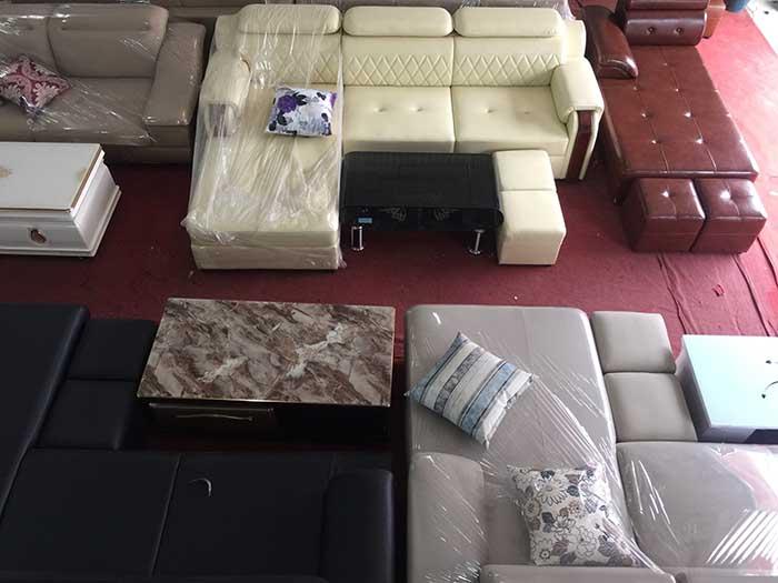 Hình ảnh mẫu sofa da góc chữ L đẹp hiện đại và sang trọng