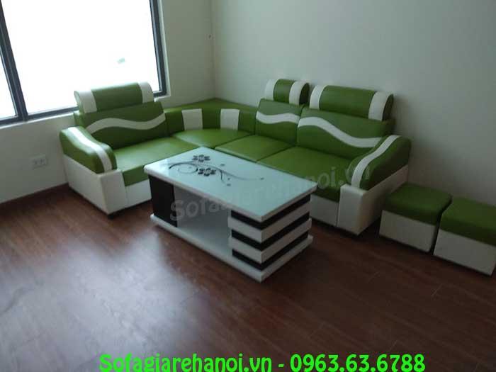Hình ảnh bộ ghế sofa da góc giá rẻ đẹp hiện đại