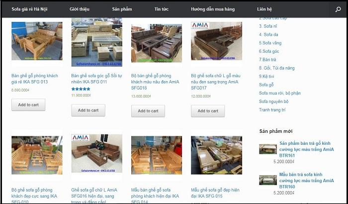 Hình ảnh các mẫu bàn ghế gỗ phòng khách đẹp tại Nội thất AmiA