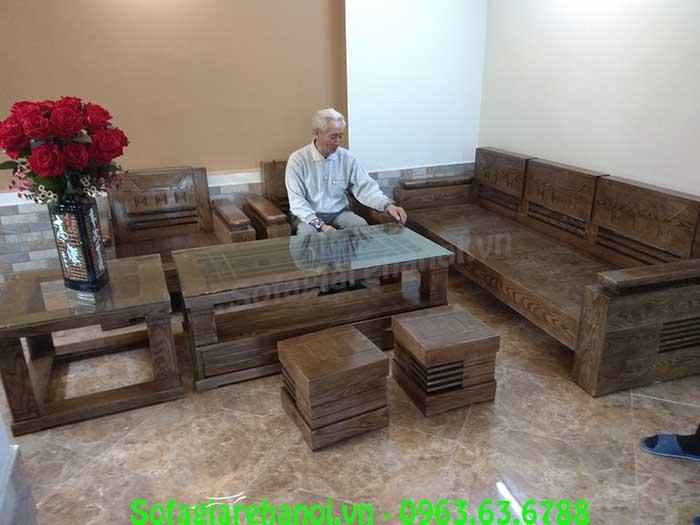 Hình ảnh bộ bàn ghế gỗ phòng khách đẹp tại Hà Nội