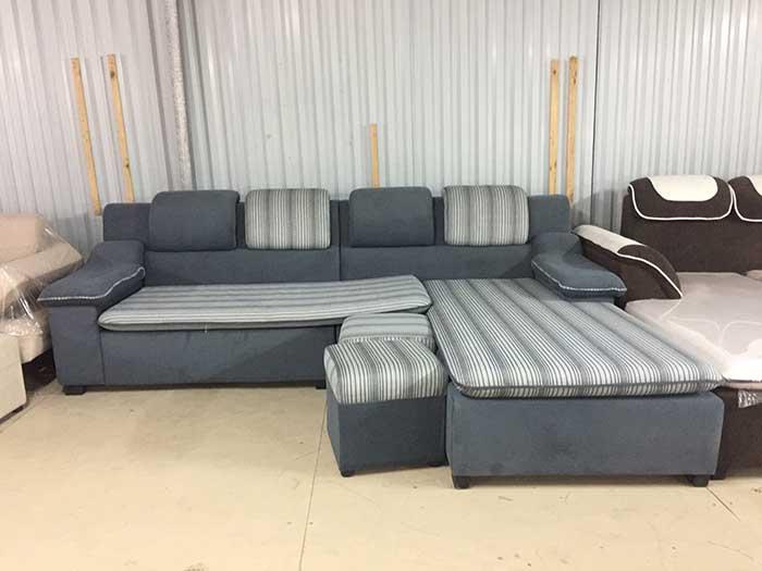 Hình ảnh mẫu sofa nỉ góc chữ L đẹp hiện đại và sa