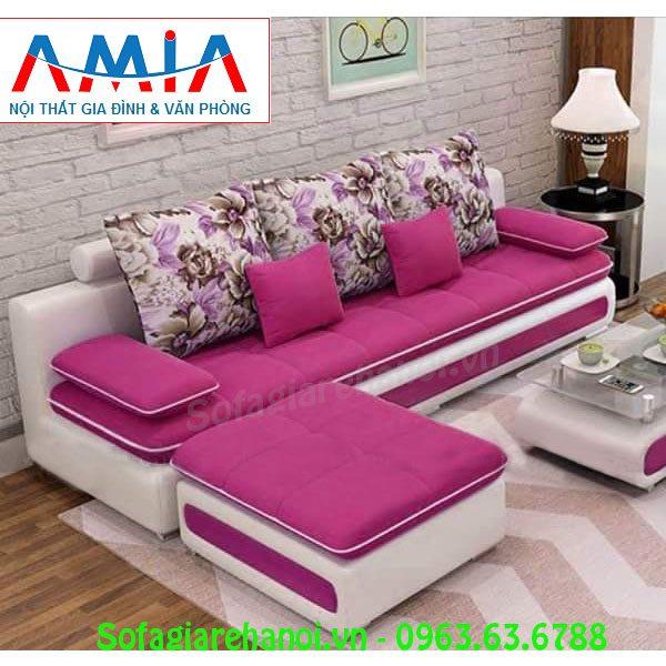 Hình ảnh mẫu ghế sofa văng đẹp với chất liệu nỉ mềm mại và chất lượng