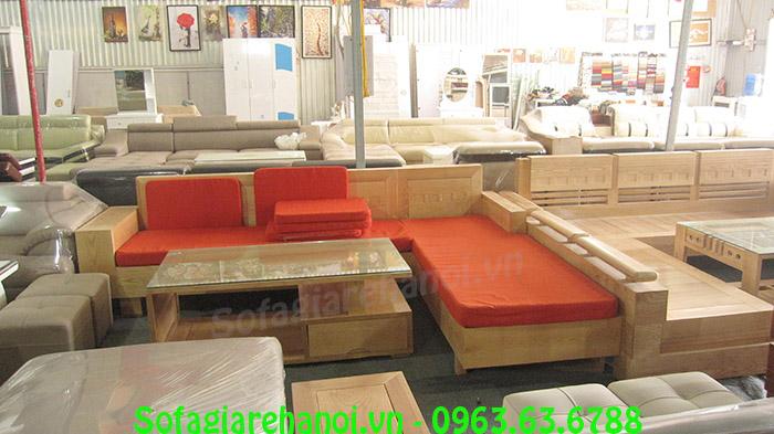 Hình ảnh bộ bàn ghế gỗ cho phòng khách chung cư đẹp hiện đại