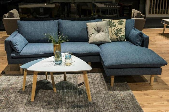 Hình ảnh bộ bàn ghế sofa cho nhà chung cư nhỏ đẹp hiện đại và sang trọng với chất liệu nỉ đẹp