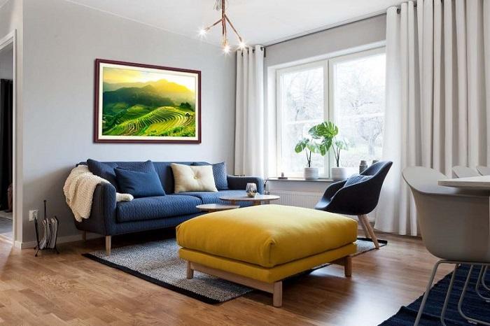 Hình ảnh mẫu ghế sofa phòng khách chung cư dạng ghế văng