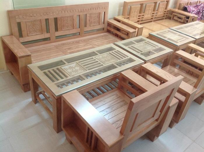 Hình ảnh địa chỉ mua bàn ghế gỗ phòng khách giá rẻ tại Hà Nội