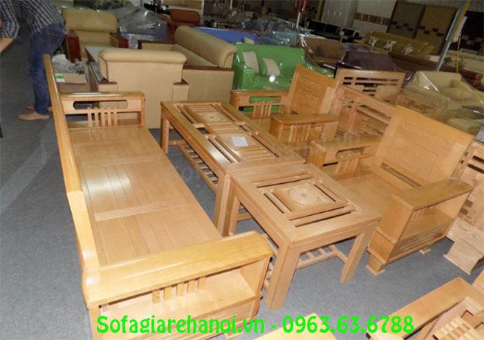 Hình ảnh bộ bàn ghế gỗ cho phòng khách nhà chung cư đẹp hiện đại và sang trọng