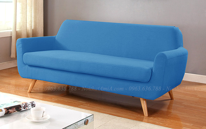 Hình ảnh Bộ ghế sofa nhỏ đẹp Hà Nội thiết kế đơn giản với dạng ghế văng