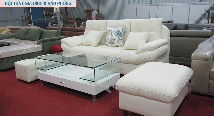Hình ảnh mẫu ghế sofa nhỏ xinh đẹp với gam màu trắng hiện