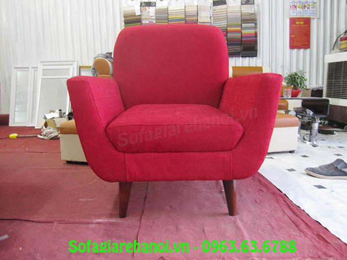 Hình ảnh mẫu ghế sofa đơn màu đỏ cho phòng ngủ hoặc căn p