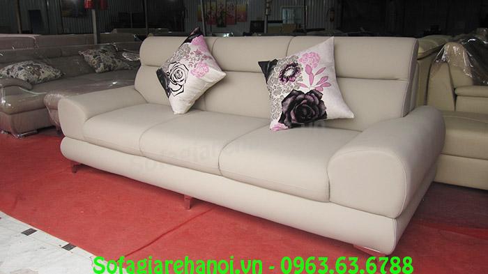 Hình ảnh mẫu ghế sofa nhỏ xinh mang phong cách thiết kế hiện đại cùng chất liệu da mềm mại, căng bóng