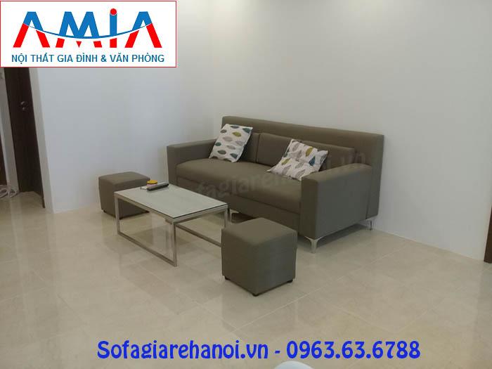 Hình ảnh bộ sofa nhỏ gọn AmiA SF096 cho phòng khách căn hộ chung cư hiện đại