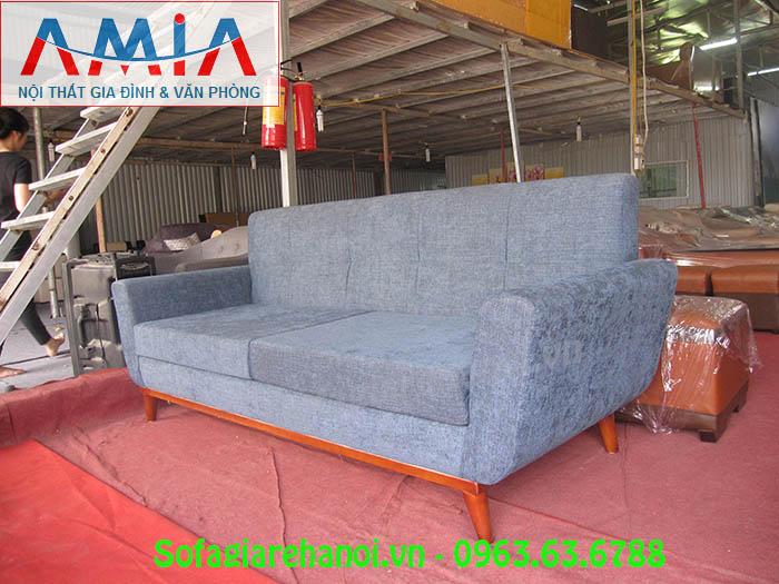 Hình ảnh ghế sofa nhỏ đẹp hiện đại với chất liệu nỉ c