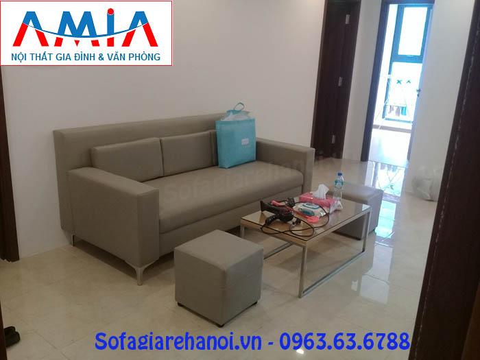 Hình ảnh ghế sofa nhỏ gọn đẹp hiện đại kết hợp bàn trà sofa đẹp
