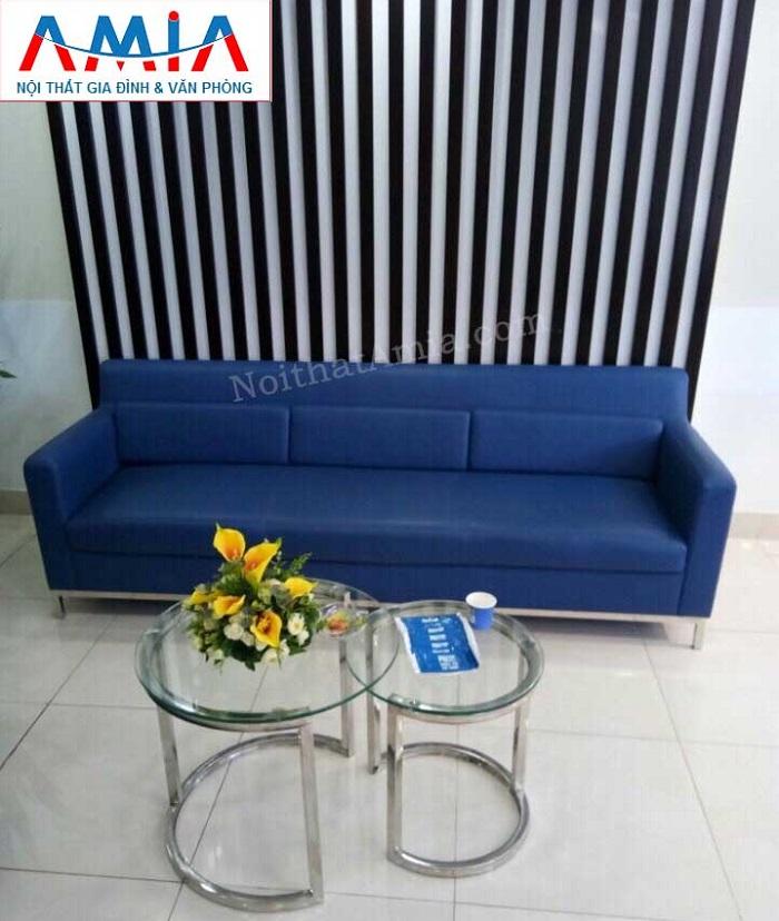 Hình ảnh bộ ghế sofa nhỏ mini đẹp với thiết kế dạng văng da đẹp