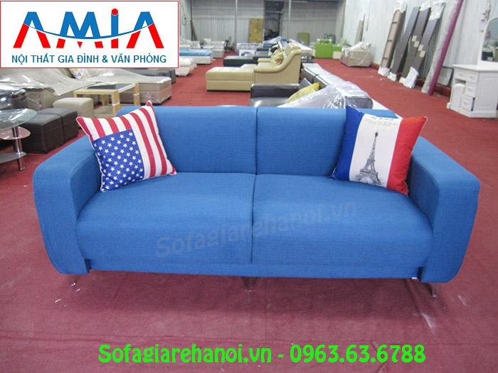 Hình ảnh bộ ghế sofa nhỏ xinh 2 chỗ màu xanh đẹp hiện đại