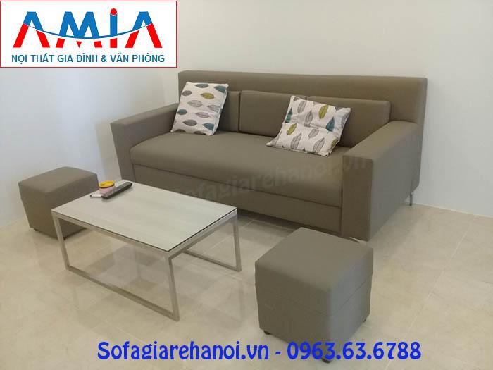 Hình ảnh ghế sofa nhỏ xinh đẹp hiện đại kết hợp bàn trà sofa kiểu mới