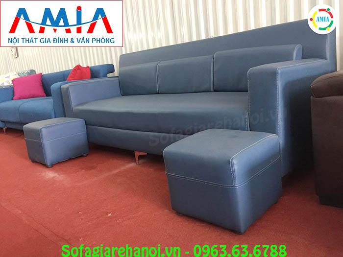 Hình ảnh sofa da nhỏ đẹp hiện đại với chất liệu da thiết kế dạng ghế văng