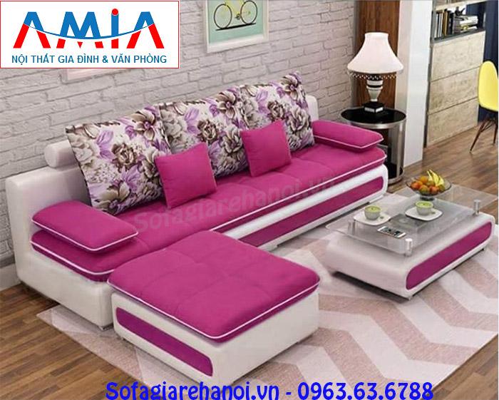 Hình ảnh bộ ghế sofa văng đẹp nhỏ xinh với thiết kế hiện đại và chất liệu nỉ đẹp