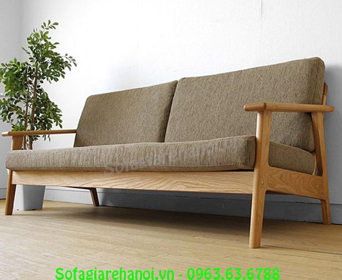 Hình ảnh mẫu ghế sofa văng đẹp chất liệu gỗ có thêm nệm mút