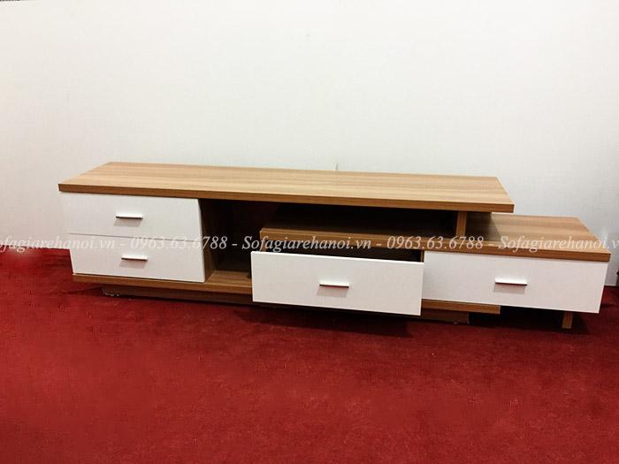 Hình ảnh mẫu sản phẩm kệ tivi gỗ hiện đại đẹp giá rẻ tại Hà Nội