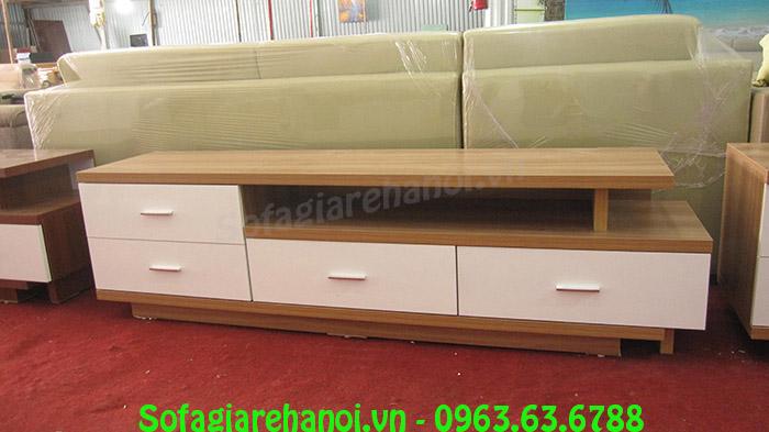 Hình ảnh mẫu kệ gỗ đẹp hiện đại với kích thước 1m8 rất dễ dàng bài trí và sắp xếp trong phòng khách gia đình