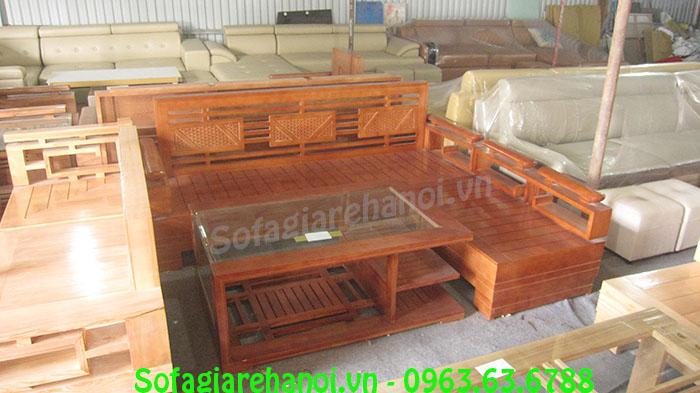 Hình ảnh mẫu ghế sofa gỗ chung cư tại kho Nội thất AmiA