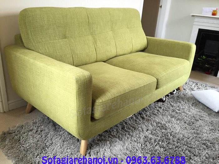 Hình ảnh sofa văng đẹp 2 chỗ kết hợp rút khuy độc đáo và
