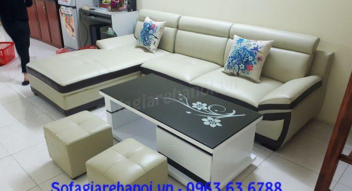 Hình ảnh sofa góc cho chung cư với thiết kế dạng chữ L hiện