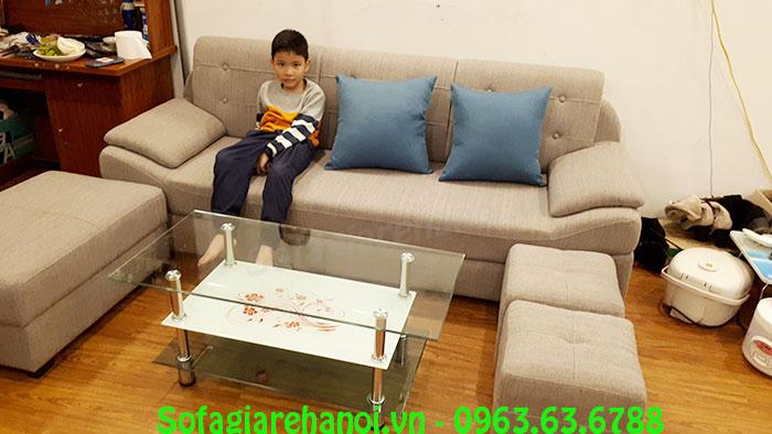 Hình ảnh ghế sofa nỉ văng đẹp cho phòng khách nhà chung cư hiện đại