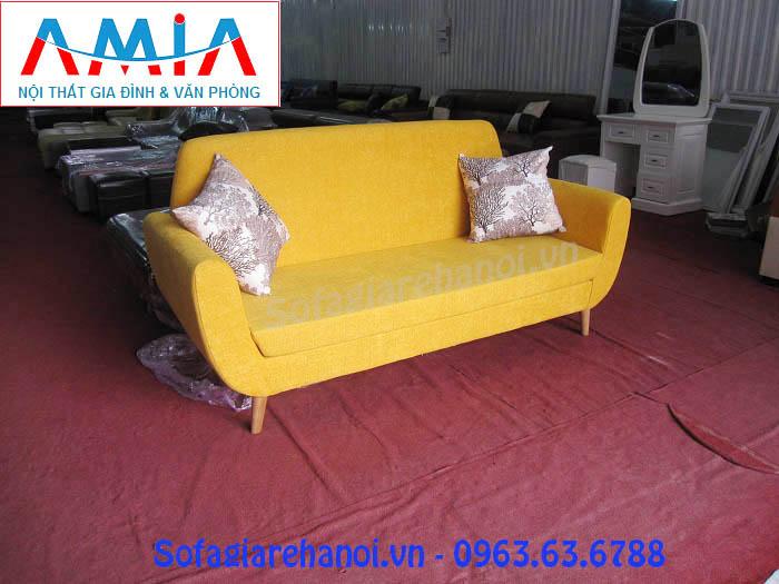 Hình ảnh ghế sofa nhỏ, sofa mini dạng văng đẹp hiện đại vơi chất liệu nỉ