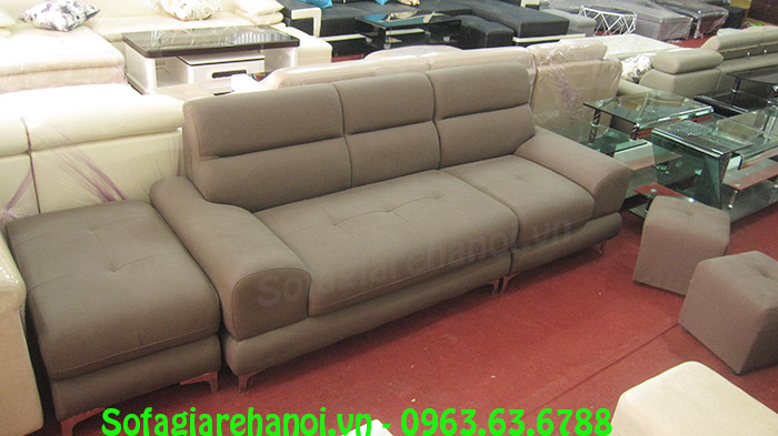 Hình ảnh sofa nhỏ mini đẹp kết hợp đôn lớn cho phòng khách gia đình