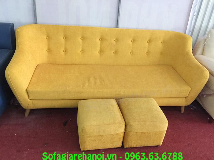 Hình ảnh mẫu ghế sofa văng đẹp hiện đại với gam màu vàng
