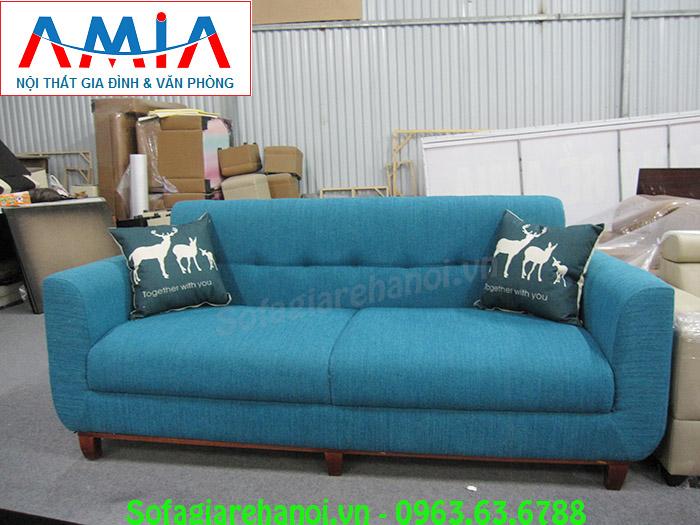 Hình ảnh mẫu ghế sofa nhỏ với chất liệu nỉ cùng thiết k