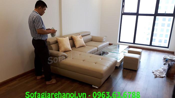 Hình ảnh bộ ghế sofa da cho phòng khách chung cư đẹp hiện đ