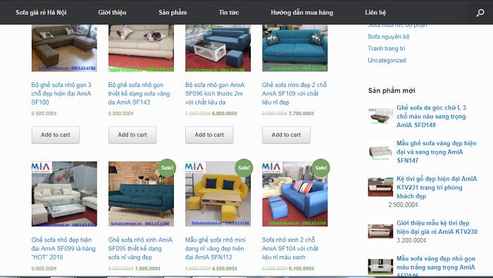 Hình ảnh mẫu ghế sofa nhỏ mini khi được cập nhật liên tục trên Sofagiarehanoi