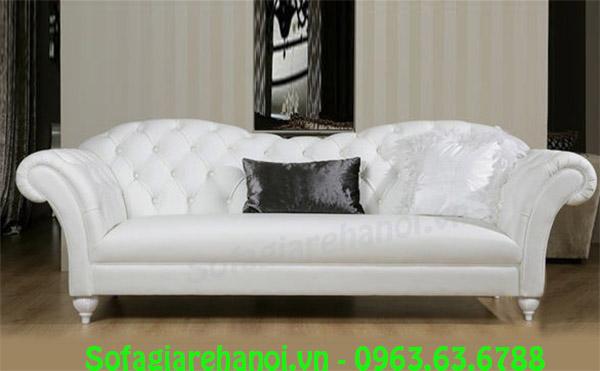Hình ảnh mẫu ghế sofa nhỏ mini màu trắng đẹp là sự lựa chọn hoàn hảo dành cho quý khách hàng