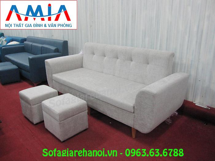 Hình ảnh mẫu ghế sofa nhỏ xinh thiết kế dạng ghế sofa văng đẹp