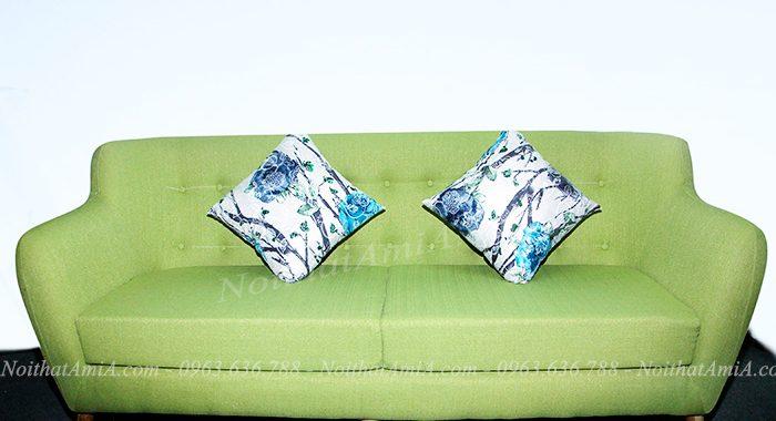 Hình ảnh ghế sofa nỉ đẹp 2 chỗ với thiết kế hiện đại, sang trọng