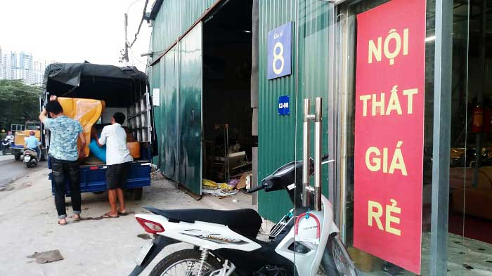 Hình ảnh tổng kho nội thất AmiA tại địa chỉ số 8, Ngõ 300 Nguyễn Xiển, Hà Nội