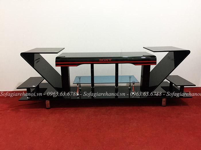 Hình ảnh mẫu kệ tivi kính đen hình chữ Z đẹp hiện đại