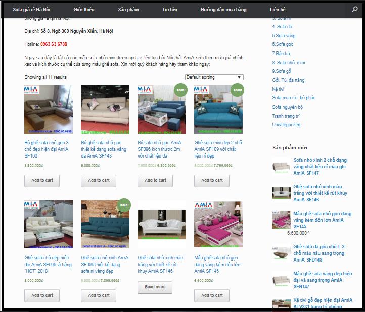 Hình ảnh các mẫu ghế sofa nhỏ mini đẹp được cập nhật liên tục trên website của Nội thất AmiA